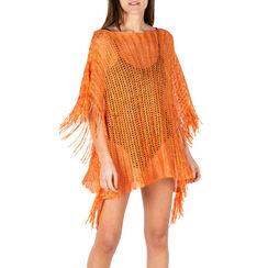 Poncho arancio retinato, Primadonna, 15B402916TSARANUNI, 001a