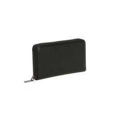 Portafoglio nero in ecopelle  con 14 vani, Borse, 122200896EPNEROUNI, 003 preview
