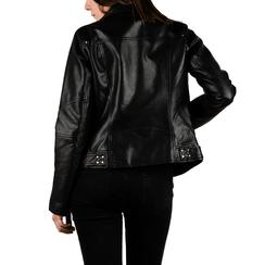 Chaqueta biker en eco-piel color negro, Primadonna, 156501128EPNEROL, 002 preview
