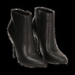 Ankle boots neri in eco-pelle, tacco 10, 50 cm , Scarpe, 142168616EPNERO035, 002 preview