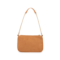 Petit sac porté épaule marron en microfibre, Sacs, 155127201MFMARRUNI, 003 preview