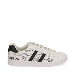 Sneakers blancas estampado cartoon,  Zapatos, 172621103EPBIAN035, 001a