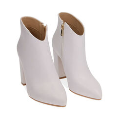 Ankle boots bianchi, tacco 9,5 cm , Scarpe, 174916101EPBIAN037, 002 preview