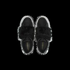 Sneakers nere Slip-on con dettagli faux-fur e borchie, Scarpe, 126103025EPNERO, 004 preview