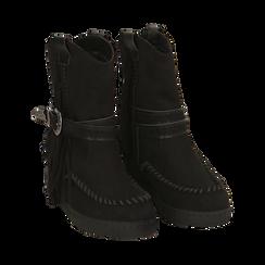 Stivali indiani neri in microfibra , Promozioni, 160750551MFNERO037, 002 preview