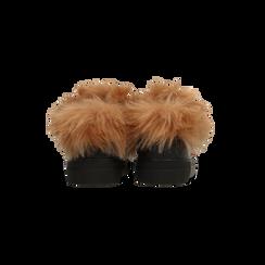 Sneakers nere con ricami animalier e dettagli in faux-fur, Primadonna, 126102020EPNERO036, 003 preview