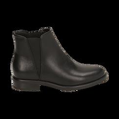 Chelsea boots neri, tacco 4 cm , Primadonna, 160621678EPNERO037, 001 preview