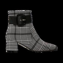 Tronchetti tweed con maxi-fibbia, tacco 5 cm, Scarpe, 122707413TSNEBI036, 001 preview
