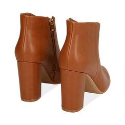 Ankle boots cognac, tacco 9,5 cm , Primadonna, 174916101EPCOGN037, 004 preview