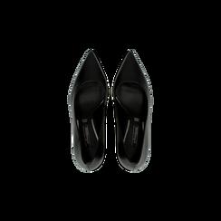 Décolleté nere con punta affusolata, tacco 7 cm, Scarpe, 128485162EPNERO, 004 preview