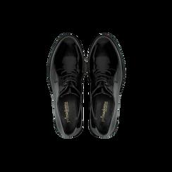 Francesine stringate vernice nera, Scarpe, 120618201VENERO, 004 preview