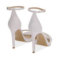 Sandali bianchi, tacco 11,5 cm, Primadonna, 172133410EPBIAN036, 004 preview