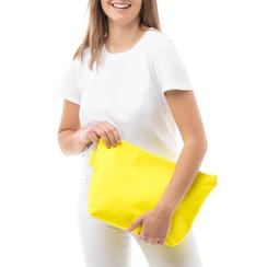 Pochette mare fluo gialla in tessuto ,