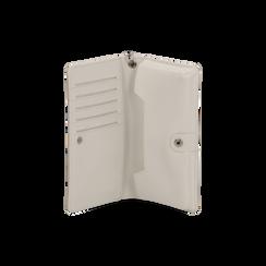 Portafoglio bianco in eco-pelle con laccetto per il polso, Borse, 133723431EPBIANUNI, 003 preview