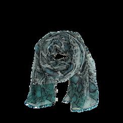Pashmina verde snake in tessuto , Abbigliamento, 14B491014TSVERD3XL, 002a