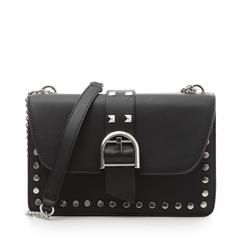 Borsa piccola nera in eco-pelle con borchie, Borse, 132300503EPNEROUNI, 001a