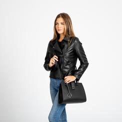 Mini bag nera in ecopelle, Saldi Borse, 125706683EPNEROUNI, 007 preview