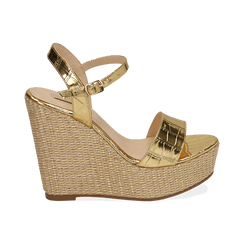 WOMEN SHOES WEDGE EP-CROCO OROG, Zapatos, 154983292CCOROG036, 001 preview