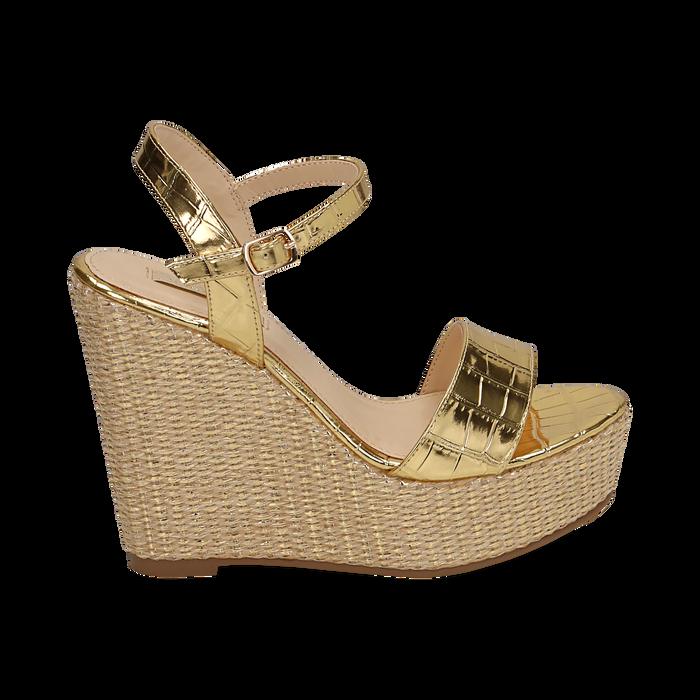 WOMEN SHOES WEDGE EP-CROCO OROG, Chaussures, 154983292CCOROG036