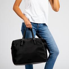 Borsa Maxi-Bag a mano nera in tessuto, Primadonna, 122300313TSNEROUNI, 004 preview