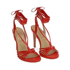 Sandales rouges, talon de 10 cm, Primadonna, 172174221EPROSS036, 002a
