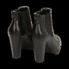 Ankle boots neri, tacco 9,50 cm , Primadonna, 160619074EPNERO038, 004 preview
