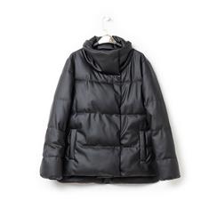 Piumino nero in nylon, Abbigliamento, 146501168NYNERO3XL, 003 preview
