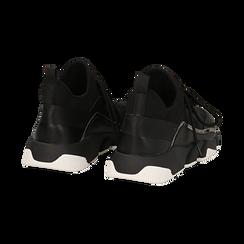 Sneakers nere in lycra con dettaglio effetto mirror, Scarpe, 145019191LYNERO035, 004 preview