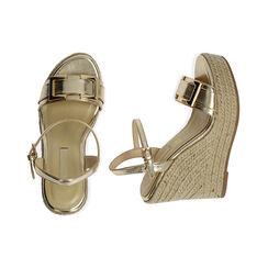 Sandali oro laminato, zeppa 12 cm , Primadonna, 172108248LMOROG035, 003 preview