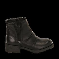 Botas biker de piel en color negro, Primadonna, 167718219PENERO035, 001a