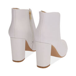 Ankle boots bianchi, tacco 9,5 cm , Scarpe, 174916101EPBIAN037, 004 preview