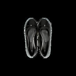 Ballerine nere punta tonda, con tacco basso, Primadonna, 124892351EPNERO, 004 preview