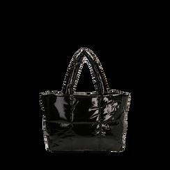 Sac duvet noir en vernis, Primadonna, 165122545VENEROUNI, 001a