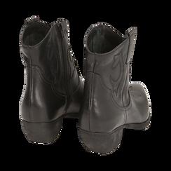 Camperos neri in pelle, tacco 4 cm, Primadonna, 157732901PENERO036, 004 preview