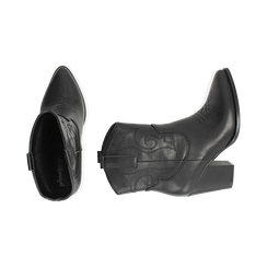 Camperos neri, tacco 8,5 cm , Scarpe, 170581020EPNERO035, 003 preview