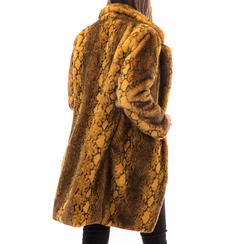 Eco-Pelliccia gialla, Abbigliamento, 14B443001FUGIAL3XL, 002a