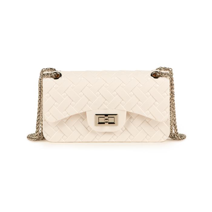 Mini-bag matelassé bianca in pvc, Borse, 15C809988PVBIANUNI