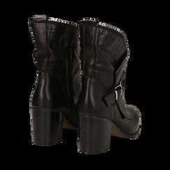Ankle boots neri in vera pelle, tacco 9 , Scarpe, 135600421PENERO036, 003 preview
