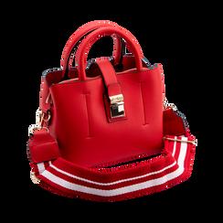 Mini bag rossa in ecopelle con tracolla a bandoliera, Borse, 122429139EPROSSUNI, 003 preview