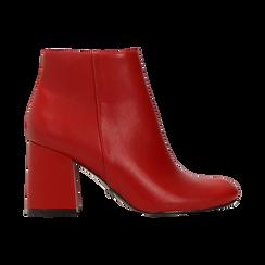 Tronchetti rossi, tacco 7,5 cm, Scarpe, 122182021EPROSS, 001 preview