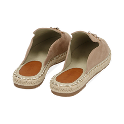 Slippers beige in microfibra, Chaussures, 154951159MFBEIG035, 004 preview