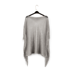 Poncho argento retinato, Vêtements, 15B402918TSARGEUNI, 001a