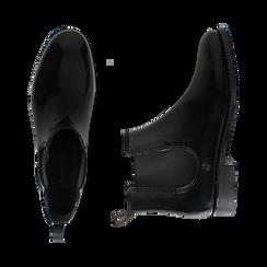 Stivali per la pioggia neri in pvc, Stivaletti, 148815144PVNERO036, 003 preview