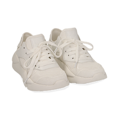 Dad shoes en tejido tecnico color blanco, Zapatos, 15F609059TSBIAN035, 002 preview