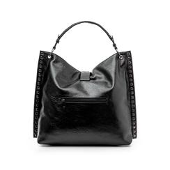 Maxi bag nera in laminato , Borse, 142409318LMNEROUNI, 003 preview