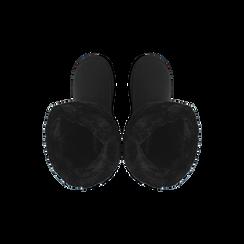 Scarponcini invernali scamosciati neri con risvolto in eco-fur, Scarpe, 125001204MFNERO036, 004 preview