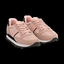 Sneakers nude in tessuto tecnico , Scarpe, 142619079TSNUDE035, 002 preview