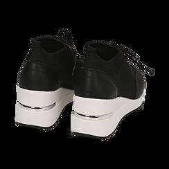 Sneakers nere in tessuto, Primadonna, 157516567TSNERO037, 004 preview