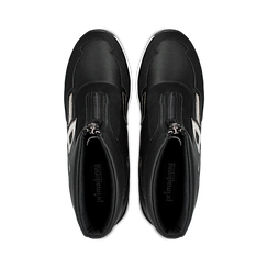 Sneakers a calza nere in tessuto tecnico, zeppa 6 cm , Scarpe, 14A718203TSNERO036, 004 preview