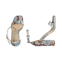 Sandali celesti stampa pitone, tacco 10,5 cm, Primadonna, 152709444PTCELE039, 003 preview